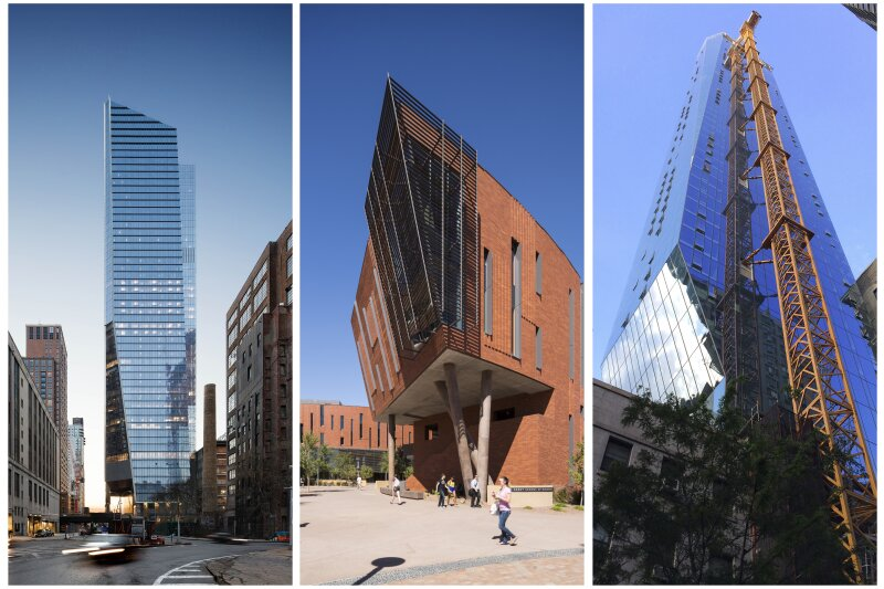 From left to right: 10 Hudson Yards, McCord Hall at Arizona State University, and 45 East 22nd Street.
