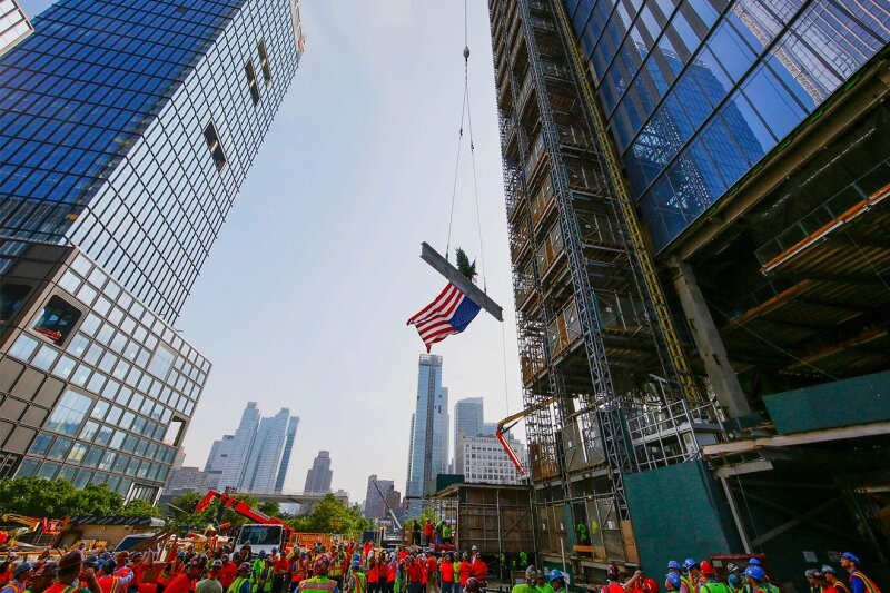 30 Hudson Yards Tops Out at 1,296 Feet