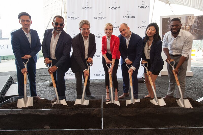Boston's Echelon Seaport Breaks Ground with Celebration