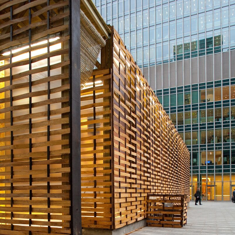 Sukkah at Canary Wharf
