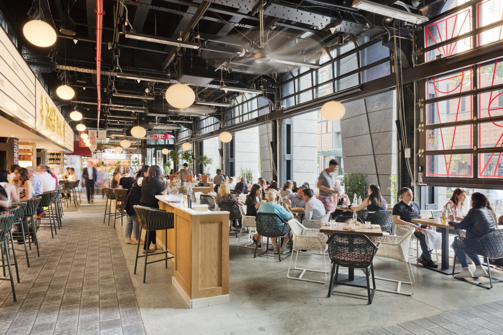 Hudson Yards Interior Food Hall